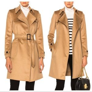 Burberry pure cashmere camel honey trench coat